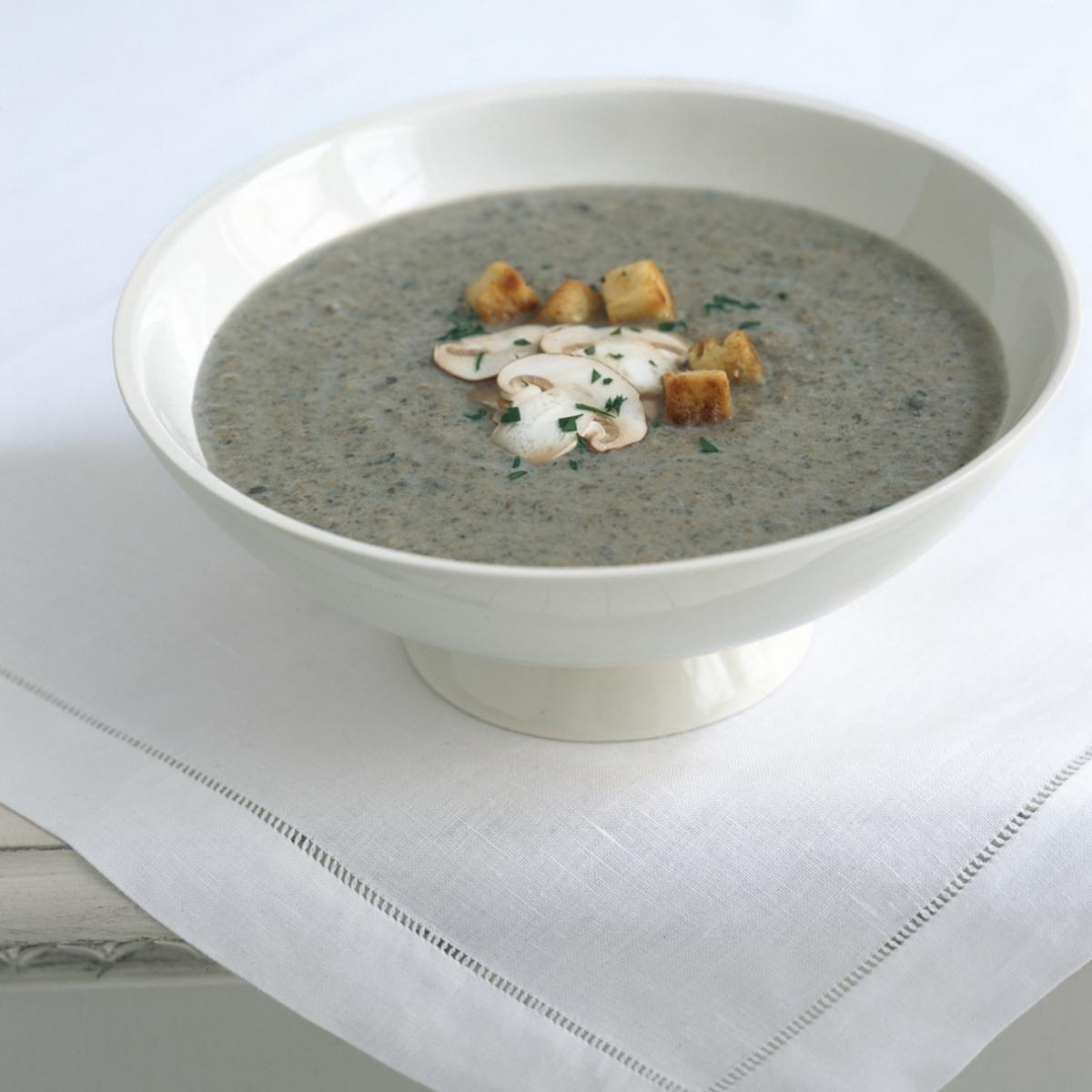 Happy wild mushroom and walnut soup