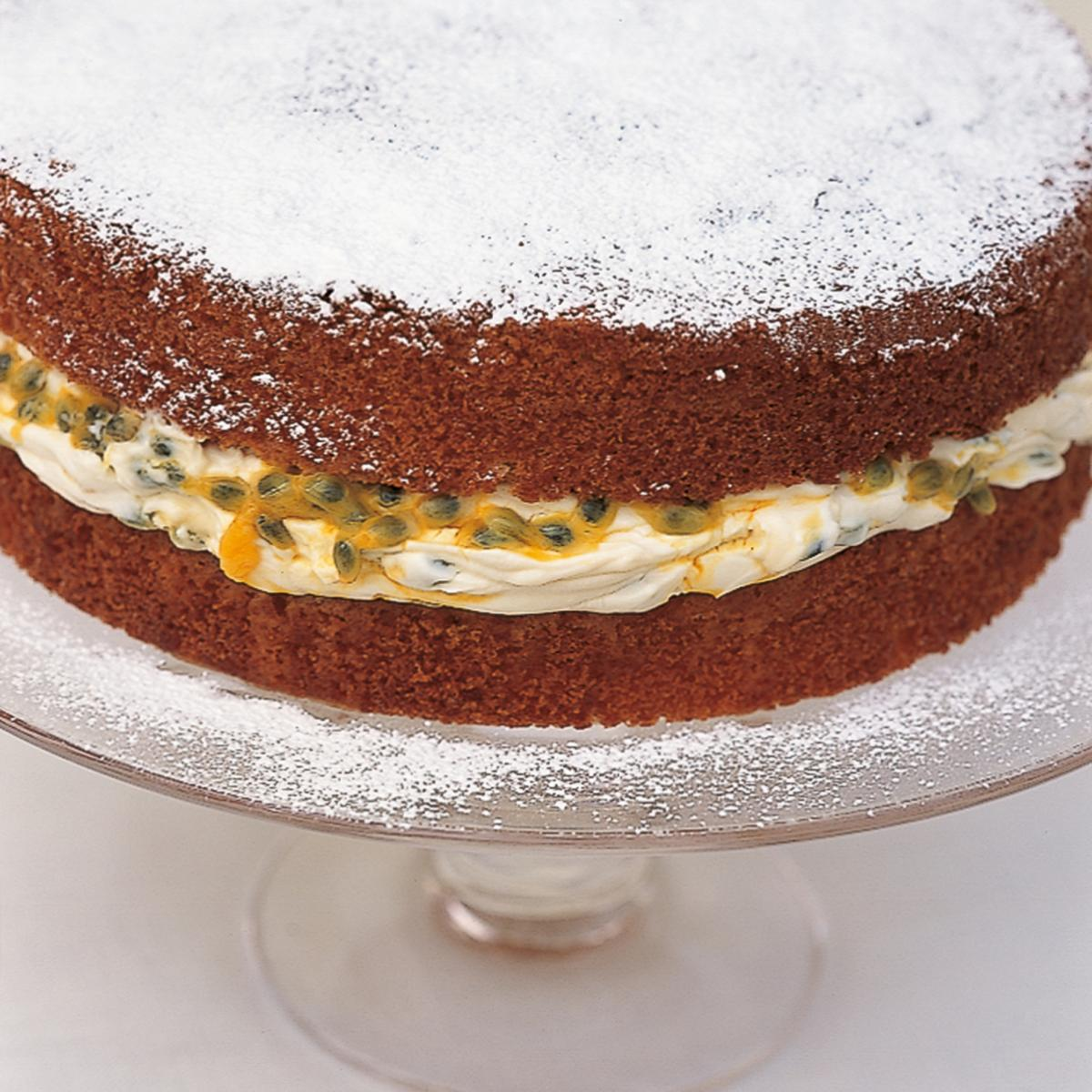 A picture of Delia's A Classic Sponge Cake (with Passion-fruit Filling) recipe