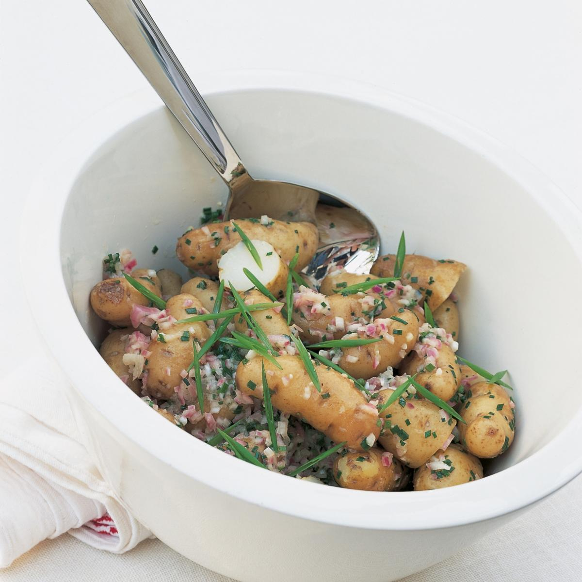 A picture of Delia's Anya Potato Salad with Shallots and Vinaigrette recipe