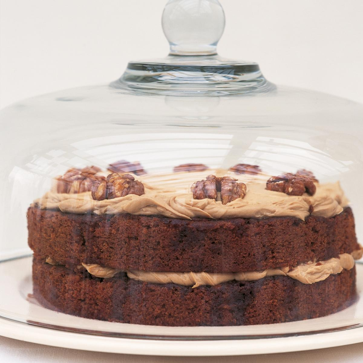 A picture of Delia's Austrian Coffee and Walnut Cake with Coffee Cream recipe