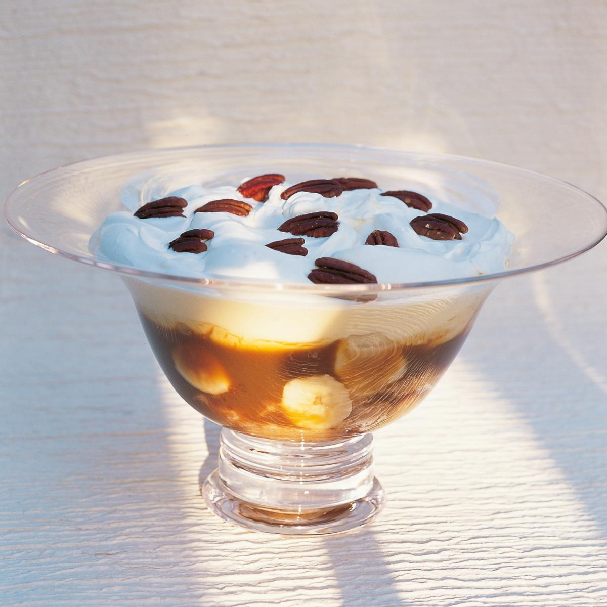 A picture of Delia's Butterscotch and Banana Trifle with Madeira recipe