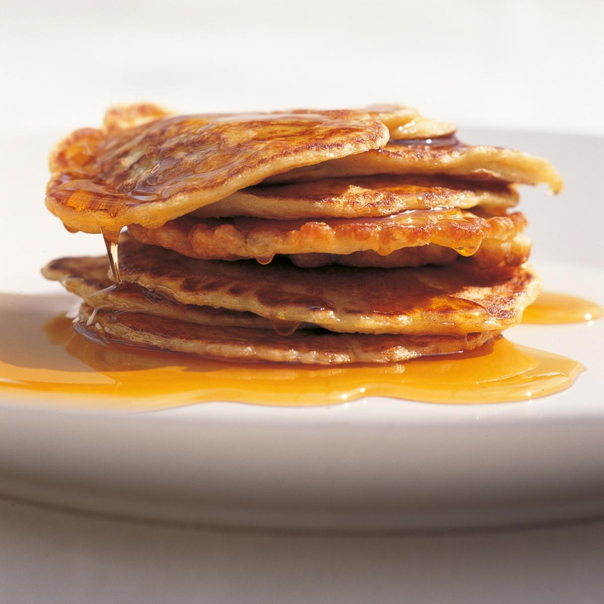 A picture of Delia's Canadian Buttermilk Pancakes with Maple Syrup recipe