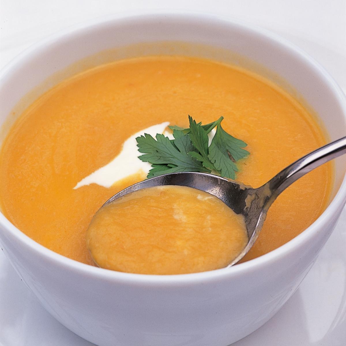 A picture of Delia's Carrot and Artichoke Soup recipe