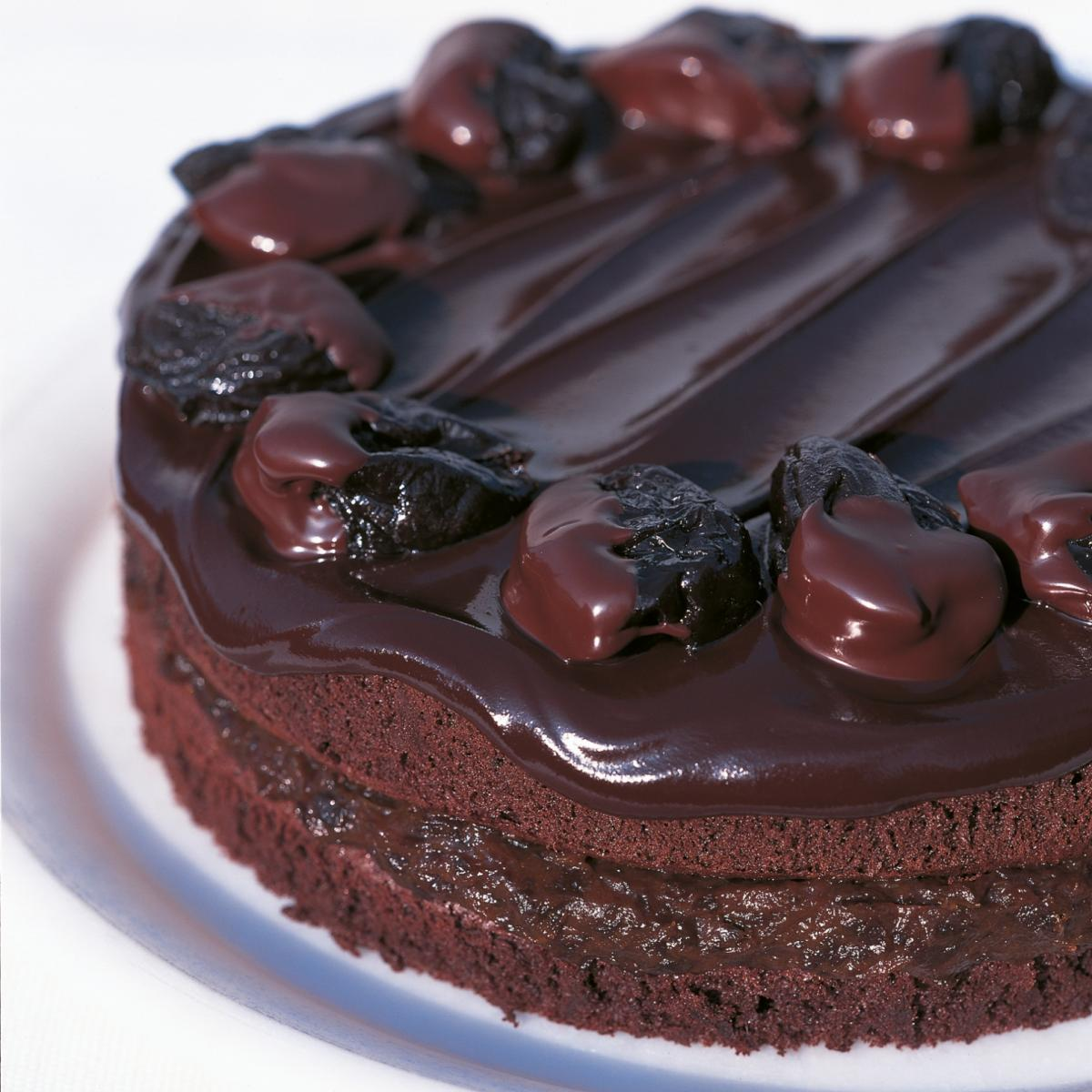 A picture of Delia's Chocolate, Prune and Armagnac Cake recipe
