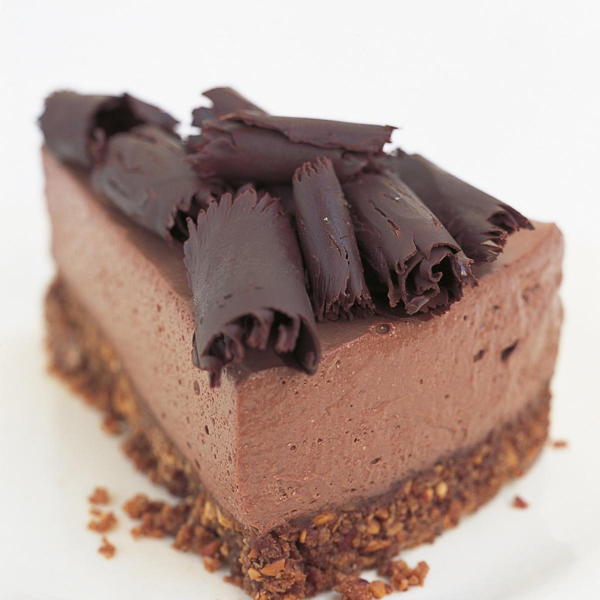 A picture of Delia's Chocolate Ricotta Cheesecake recipe