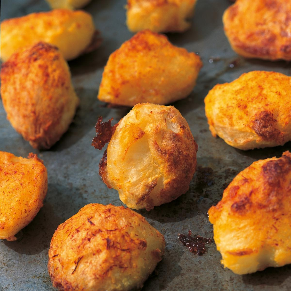 A picture of Delia's Crunchy Roast Potatoes with Saffron recipe