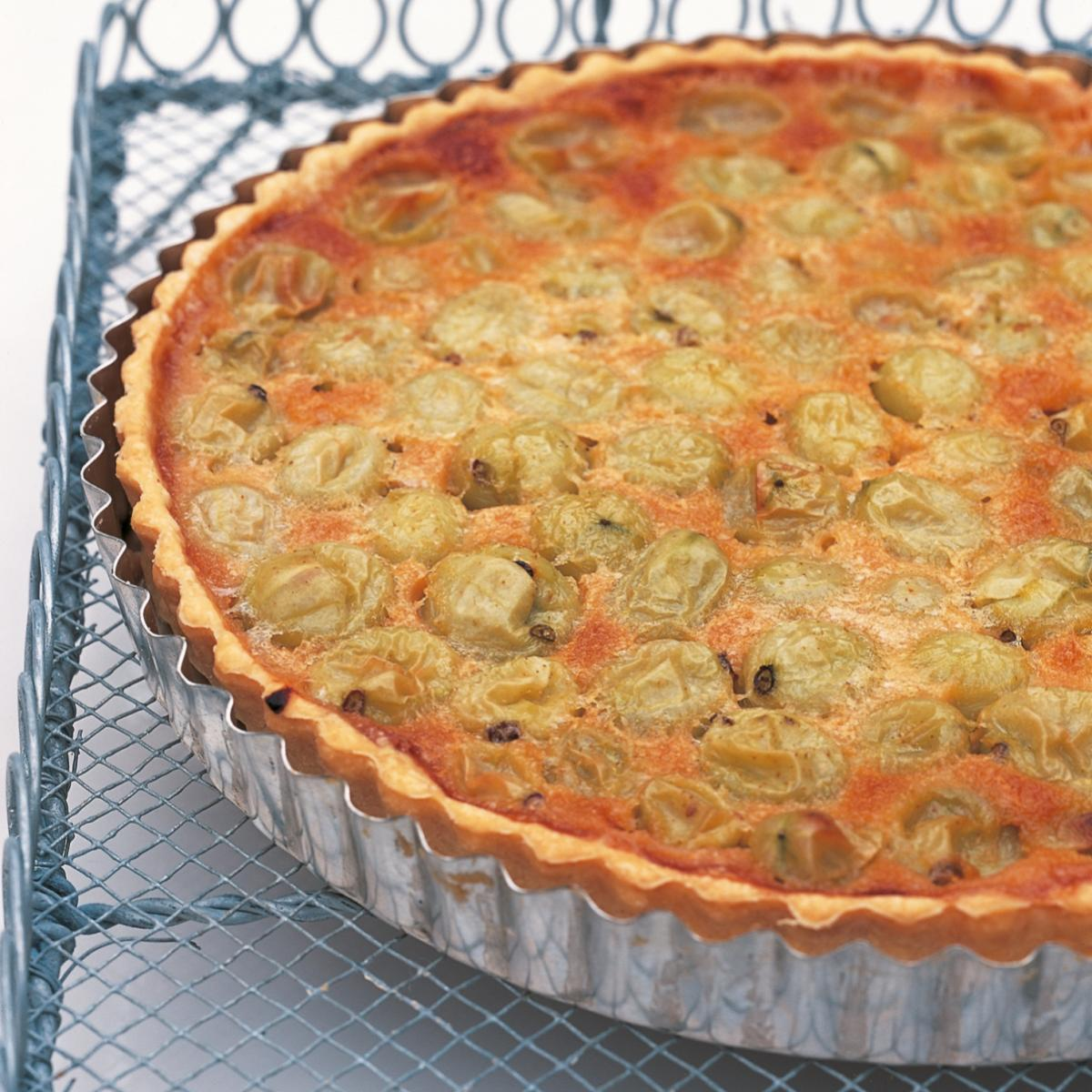 A picture of Delia's Gooseberry Creme Fraiche Tart recipe