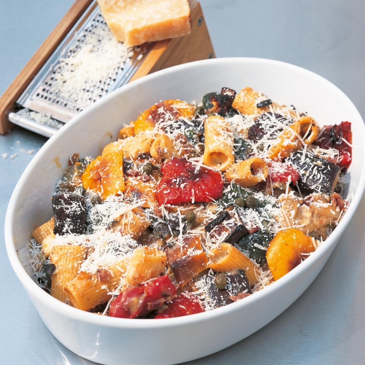 A picture of Delia's Gratin of Rigatoni with Roasted Vegetables recipe