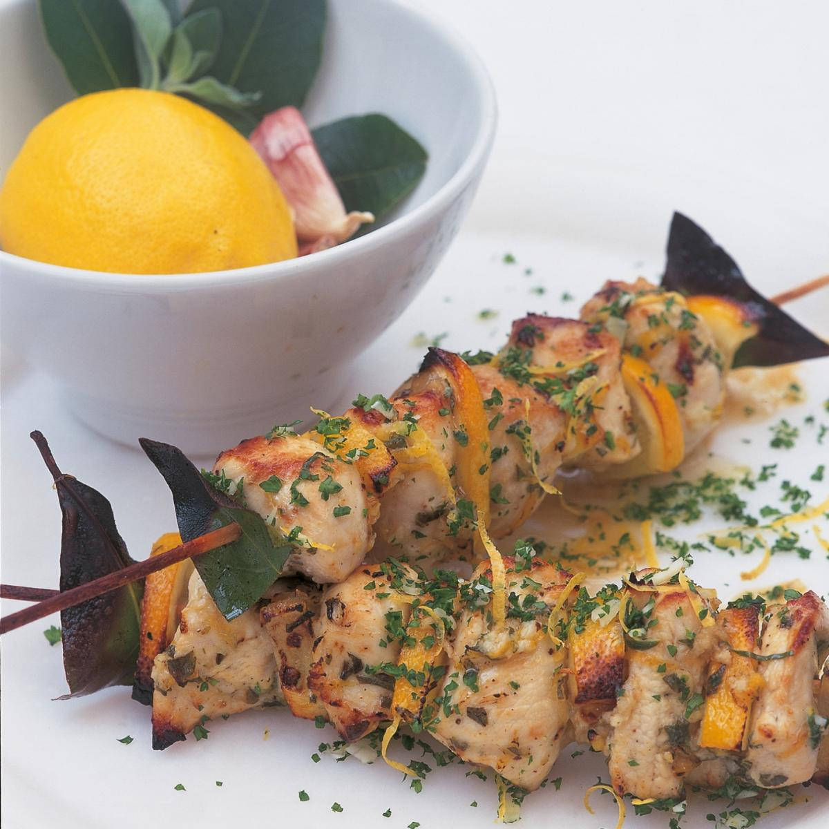 A picture of Delia's Grilled Lemon Chicken Kebabs with Gremolata recipe