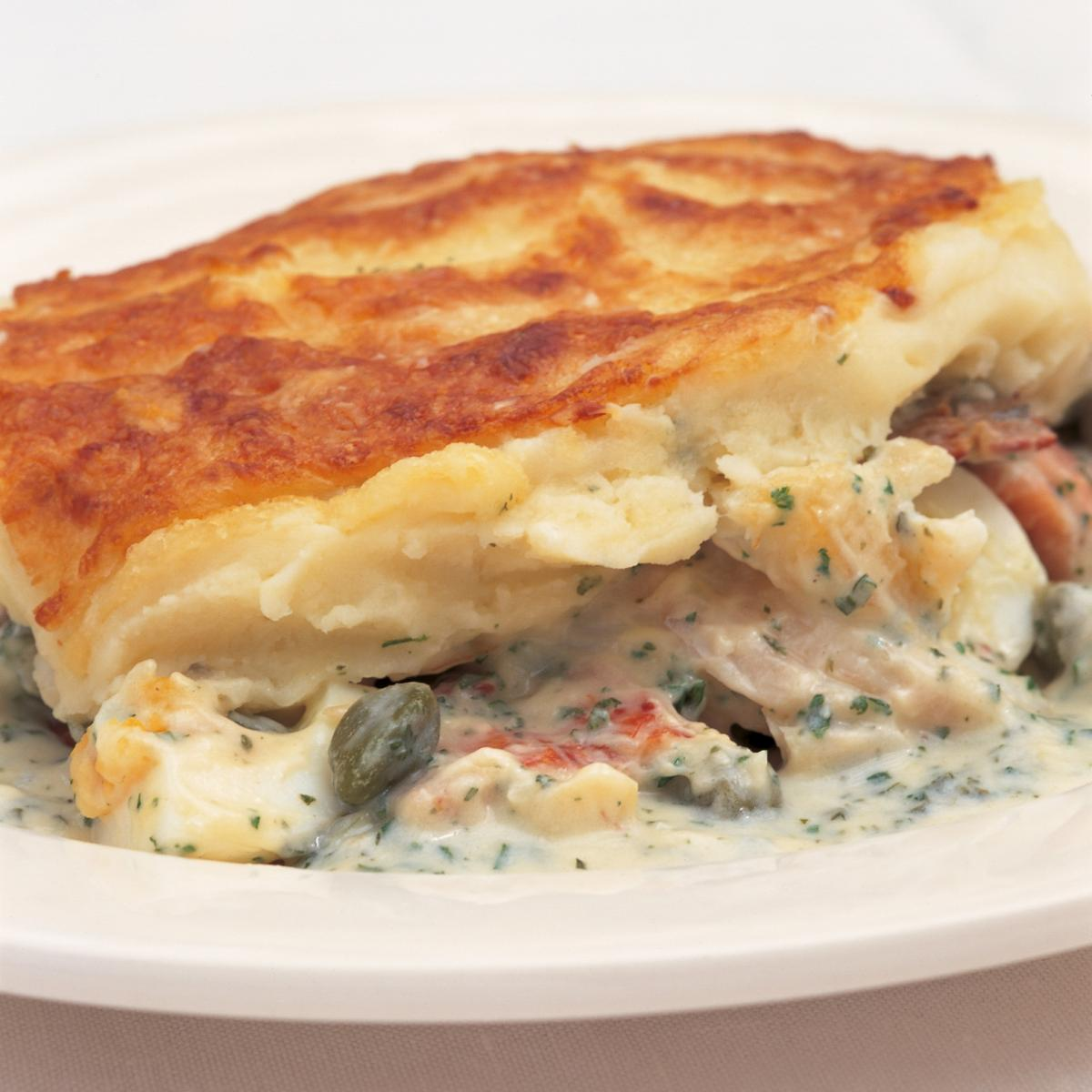 A picture of Delia's Luxury Smoked-fish Pie recipe