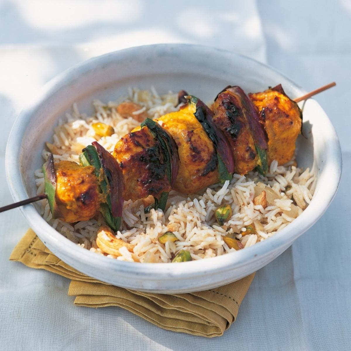 A picture of Delia's Marinated Chicken Kebabs with Whole Spices recipe