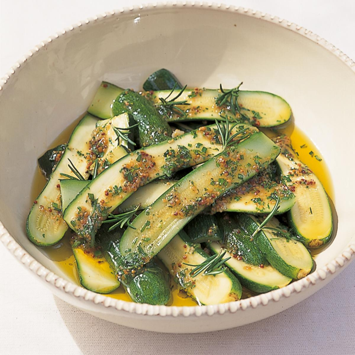A picture of Delia's Marinated Courgettes with a Herb Vinaigrette recipe