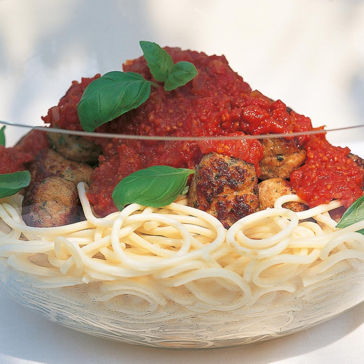 A picture of Delia's Meatballs with Spaghetti and Fresh Tomato Sauce recipe