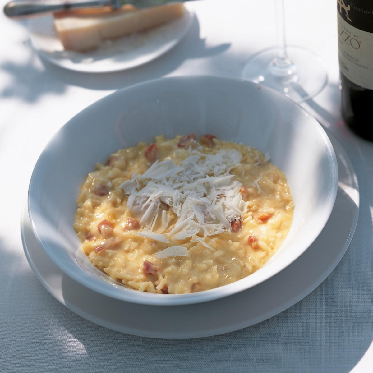 A picture of Delia's Oven-baked Risotto Carbonara recipe