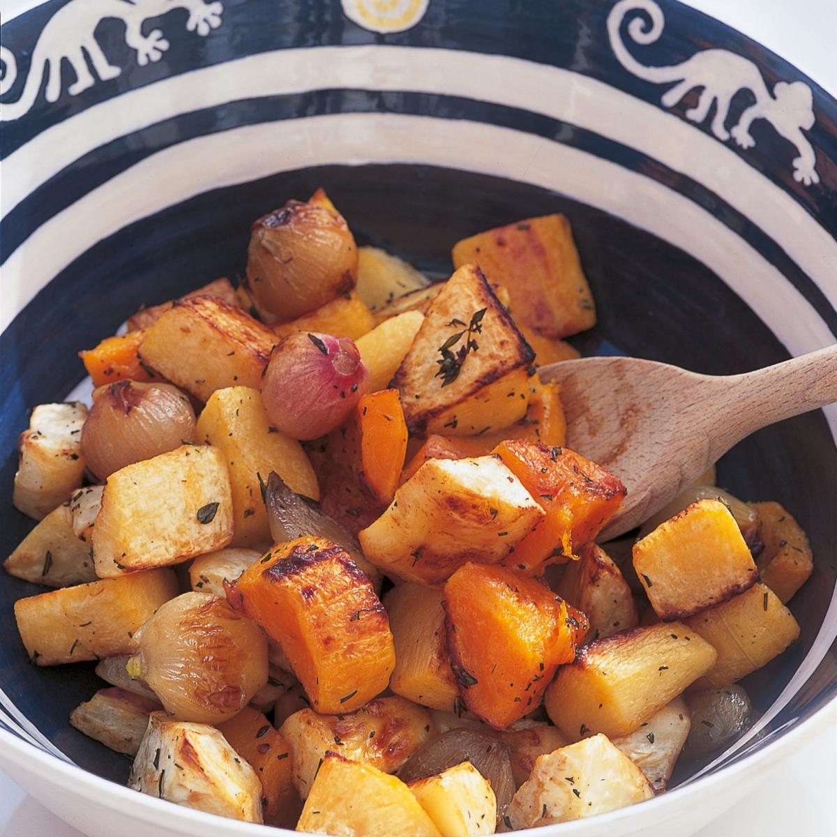 A picture of Delia's Oven-roasted Winter Vegetables recipe
