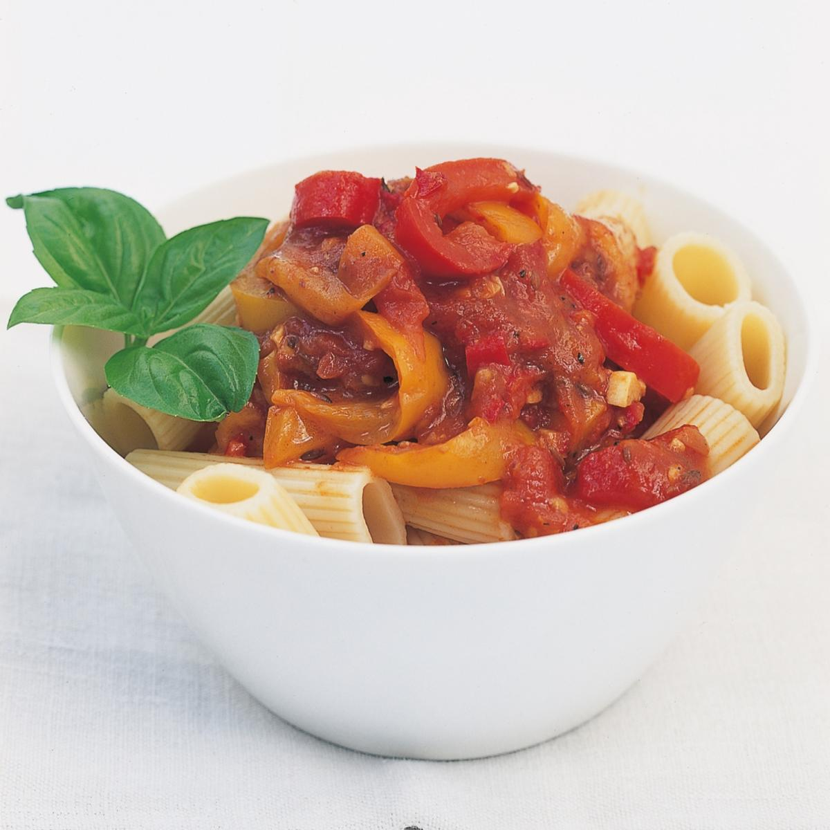A picture of Delia's Pasta with Pepper Relish recipe