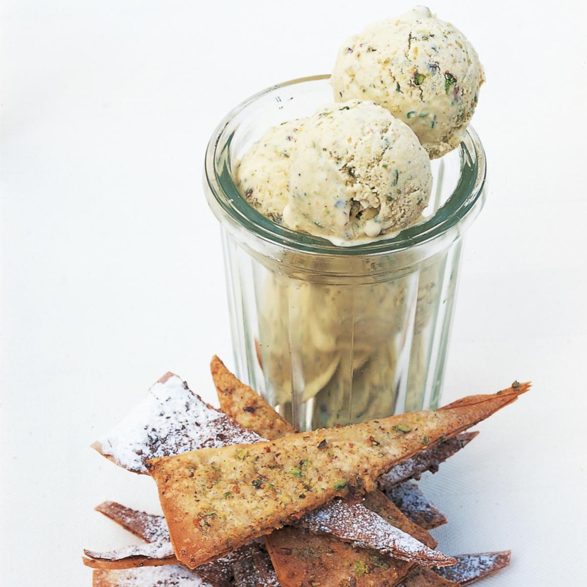 A picture of Delia's Pistachio Ice Cream recipe