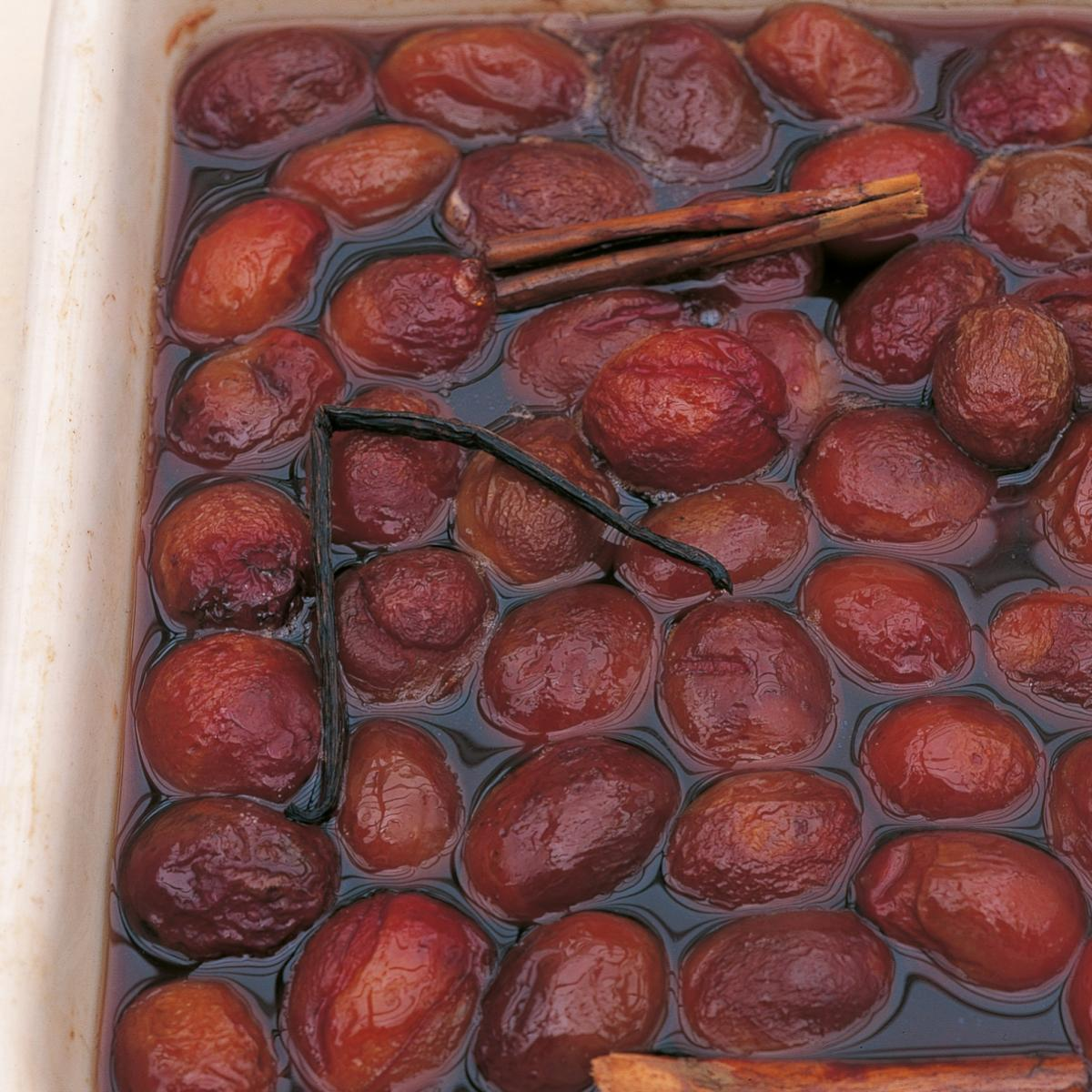 A picture of Delia's Plums in Marsala recipe