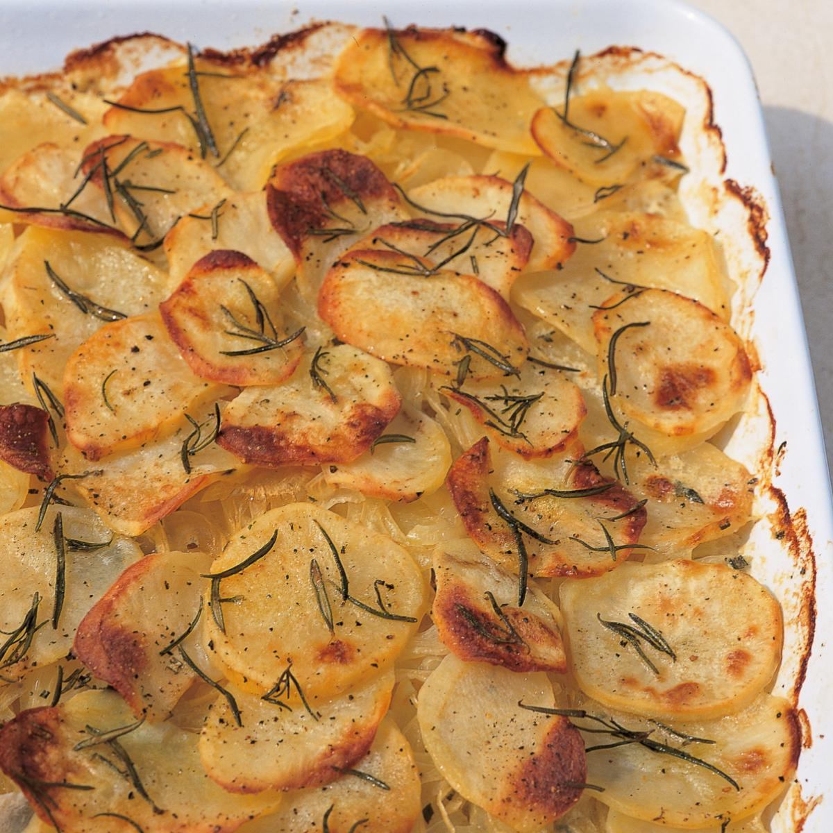 Htc potatoes boulangeres with rosemary