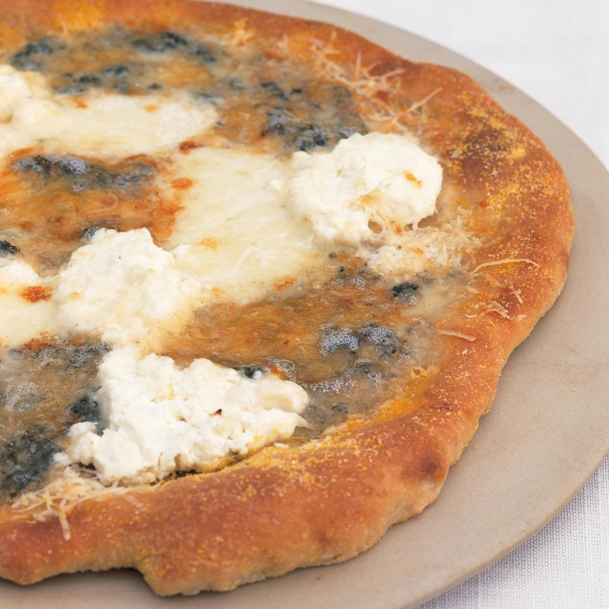 A picture of Delia's Quattro Formaggio (Four Cheese) Pizza recipe