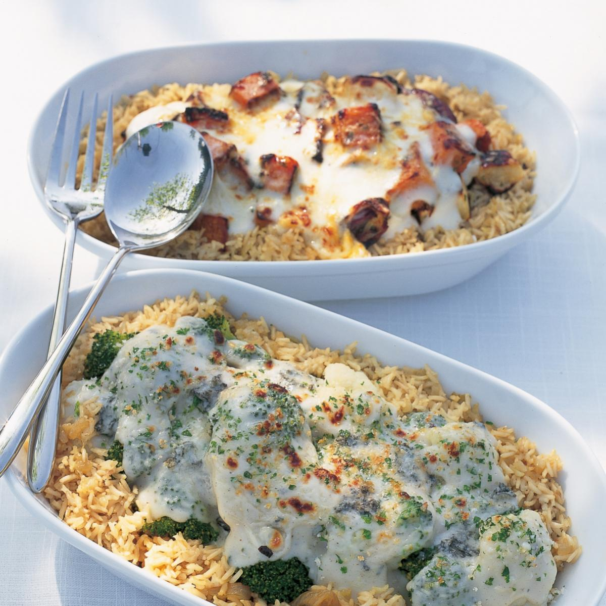 A picture of Delia's Roasted Vegetable and Brown Rice Gratin recipe