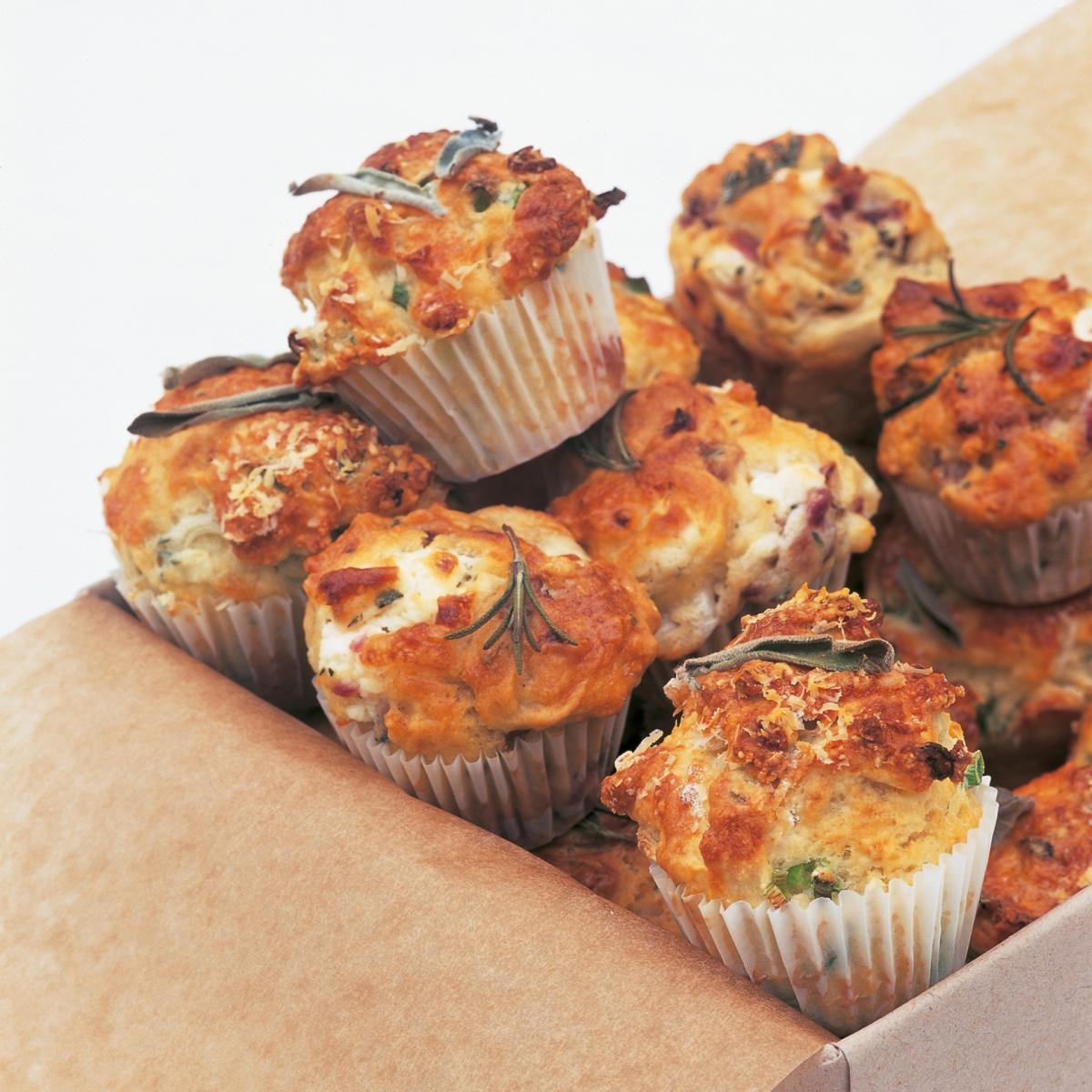A picture of Delia's Savoury Mini Muffins with Two Flavourings  recipe