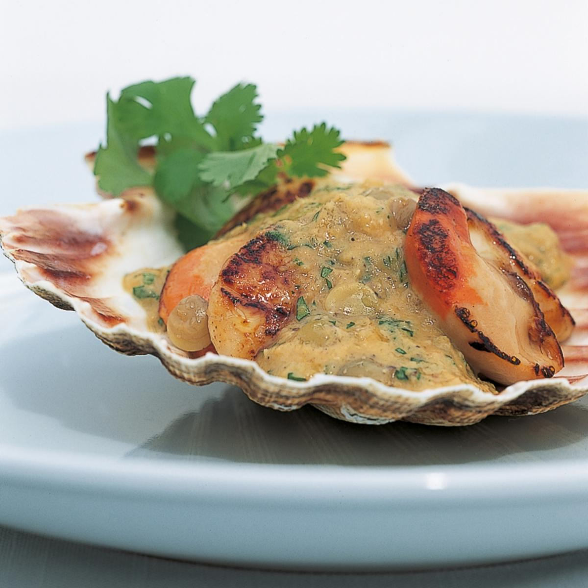 A picture of Delia's Shaun Hill's Sautéed Scallops with Lentil Sauce recipe