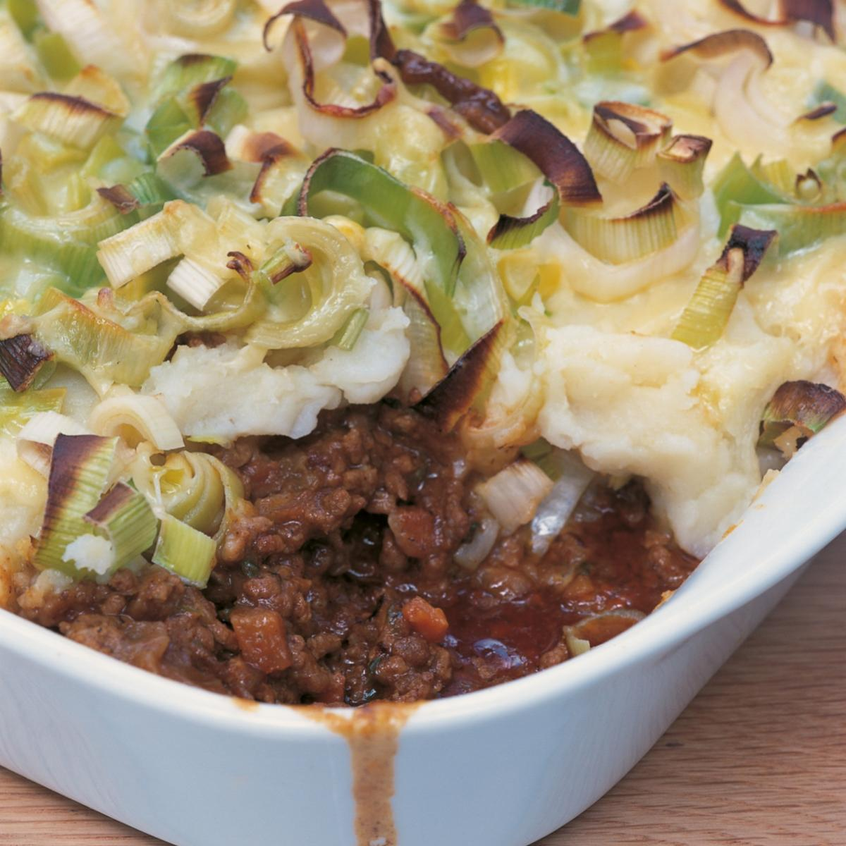 Shepherd's Pie With Cheese-crusted Leeks