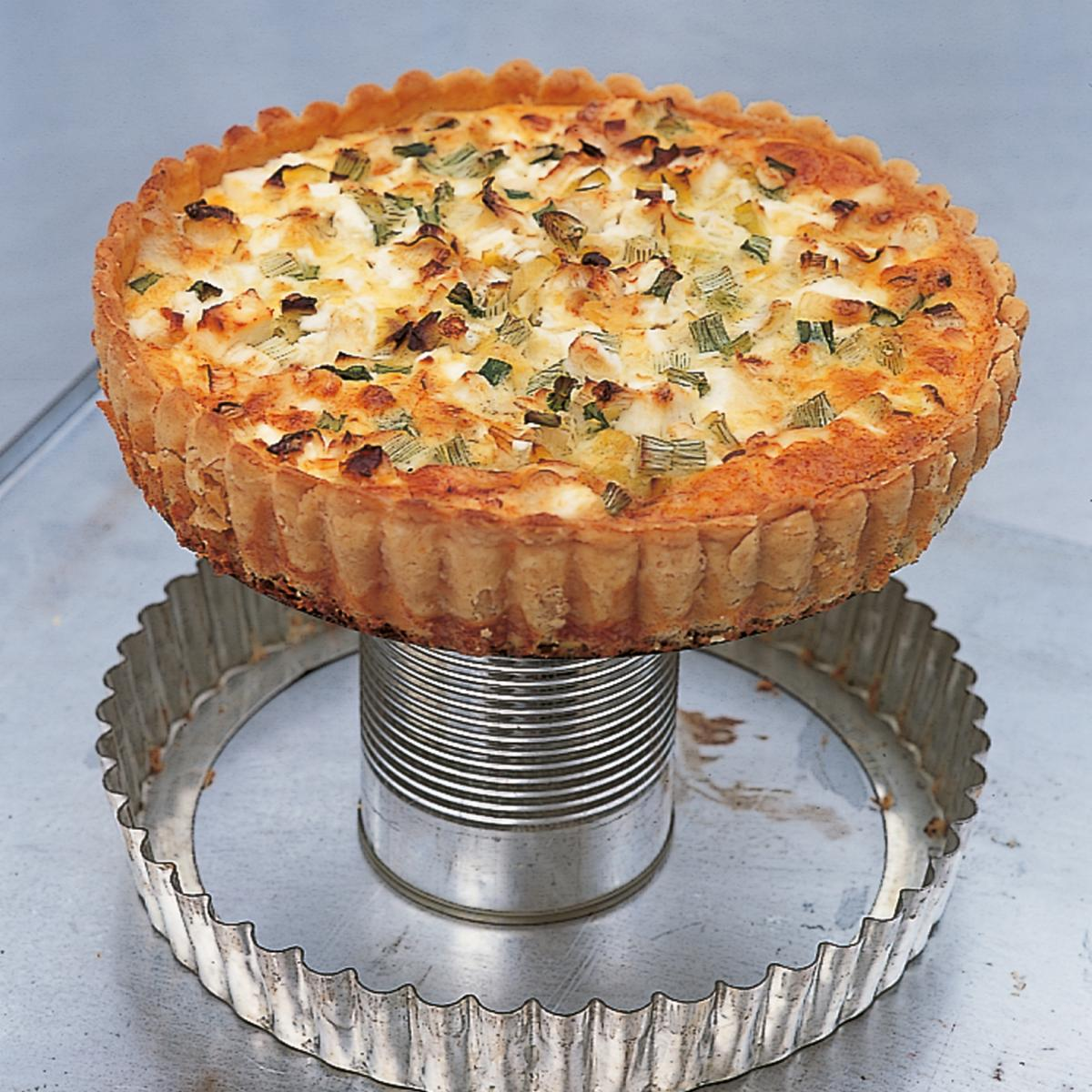 A picture of Delia's Smoked Fish Tart with a Parmesan Crust recipe