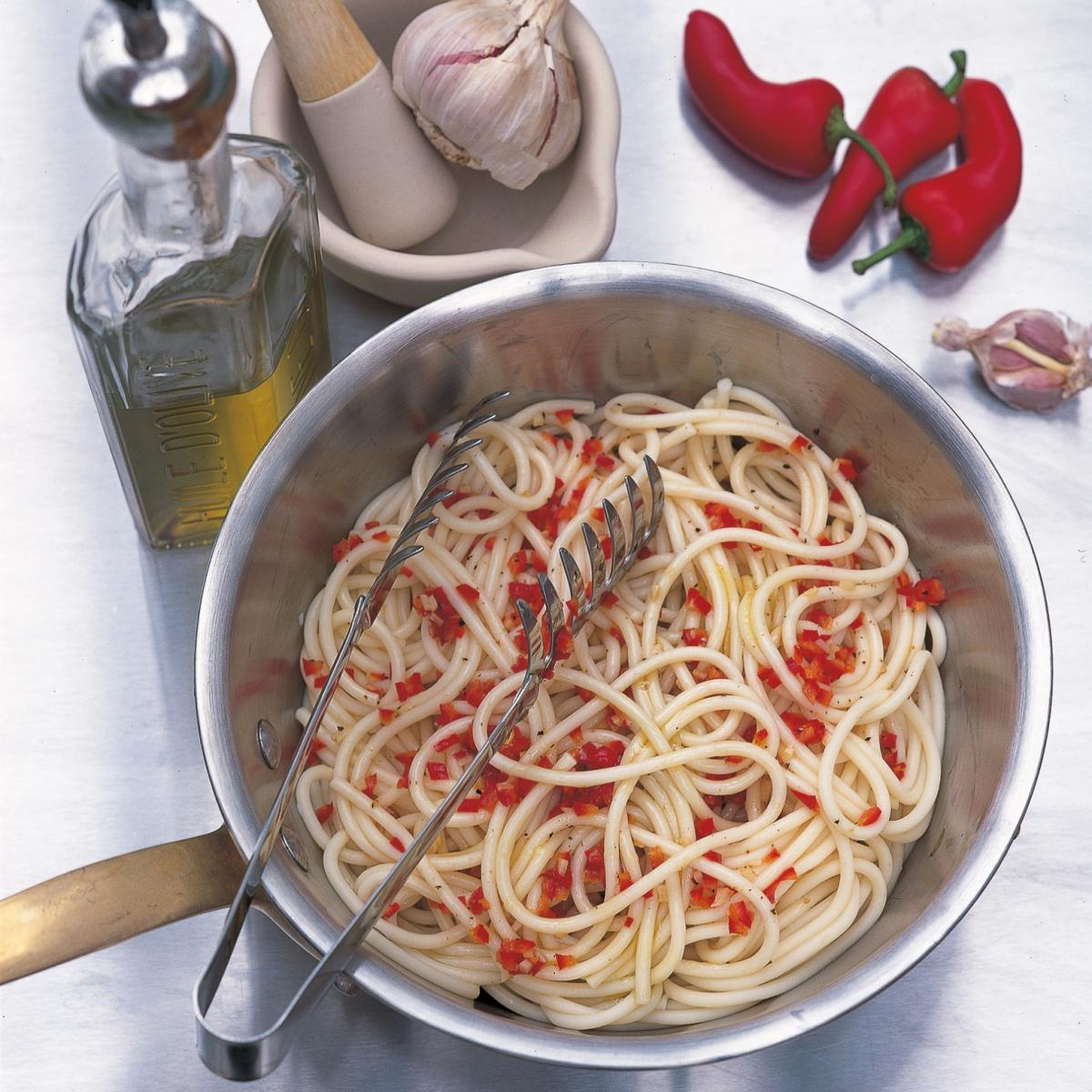 Htc spaghetti with olive oil garlic and chilli