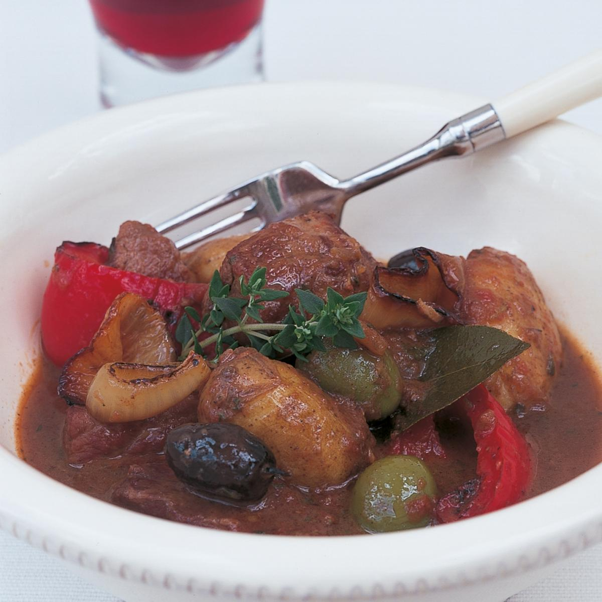 A picture of Delia's Spanish Braised Pork with Potatoes and Olives recipe