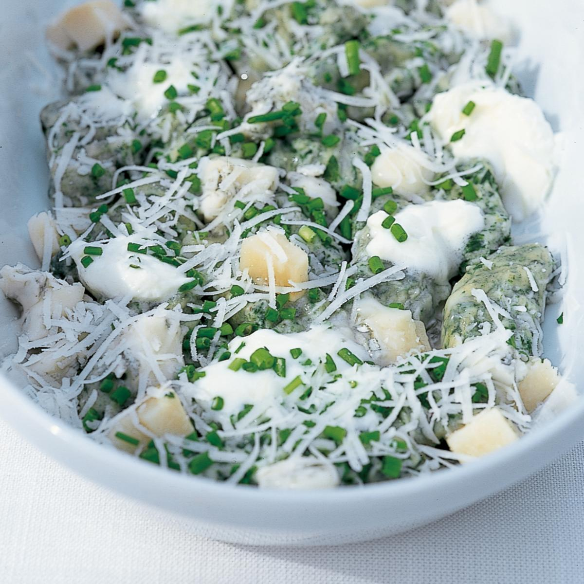 Htc spinach gnocchi with four cheeses