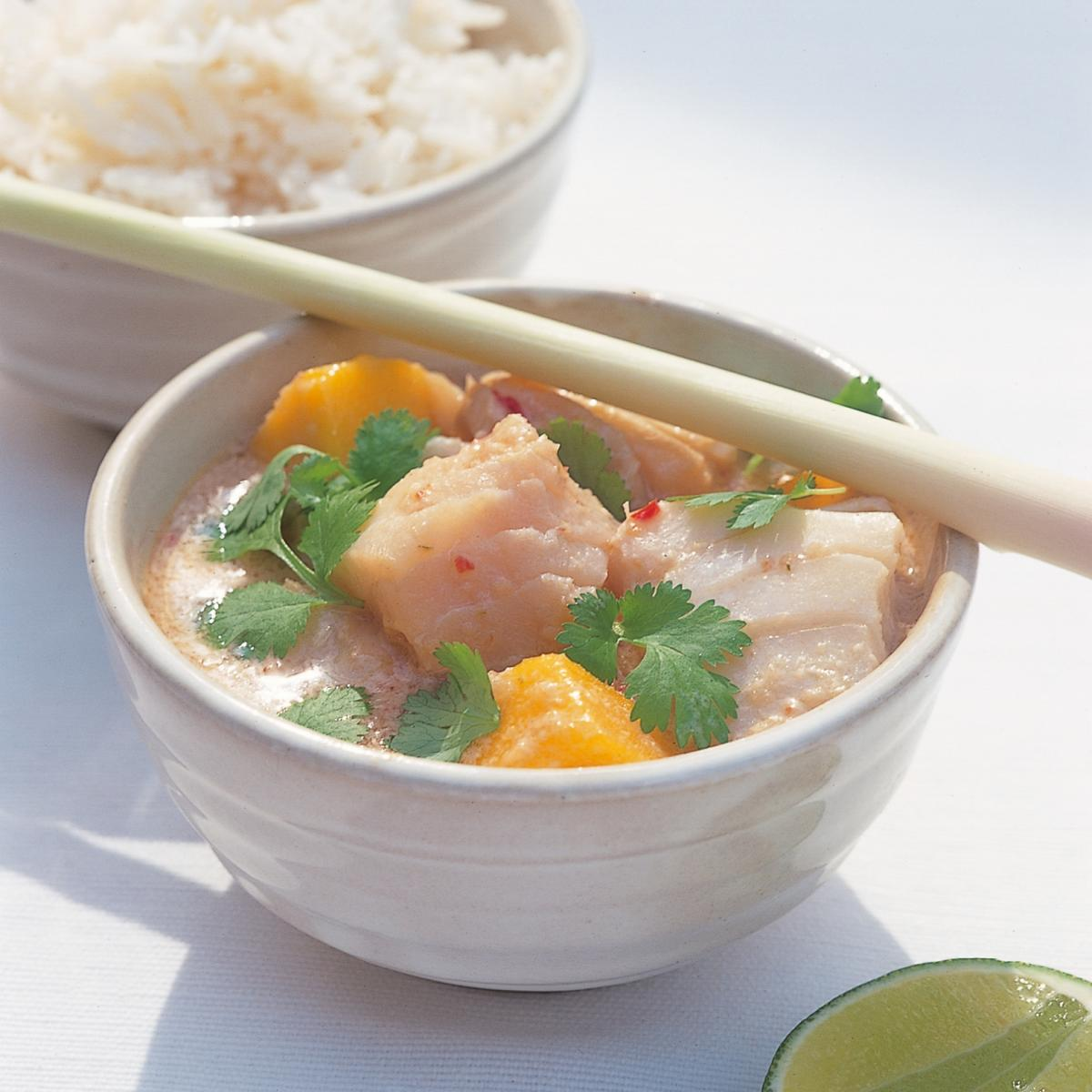 Htc thai fish curry with mango