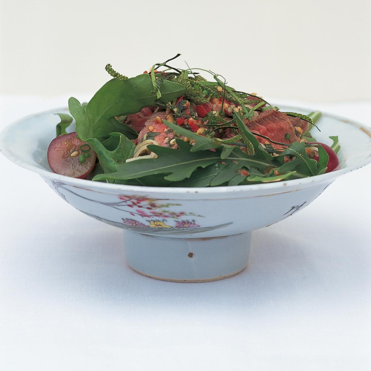 Htc thai grilled beef salad with grapes