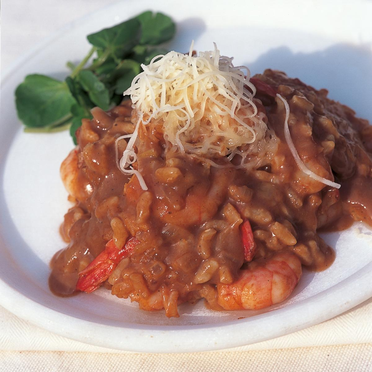 A picture of Delia's Tiger Prawn Risotto with Lobster Sauce recipe