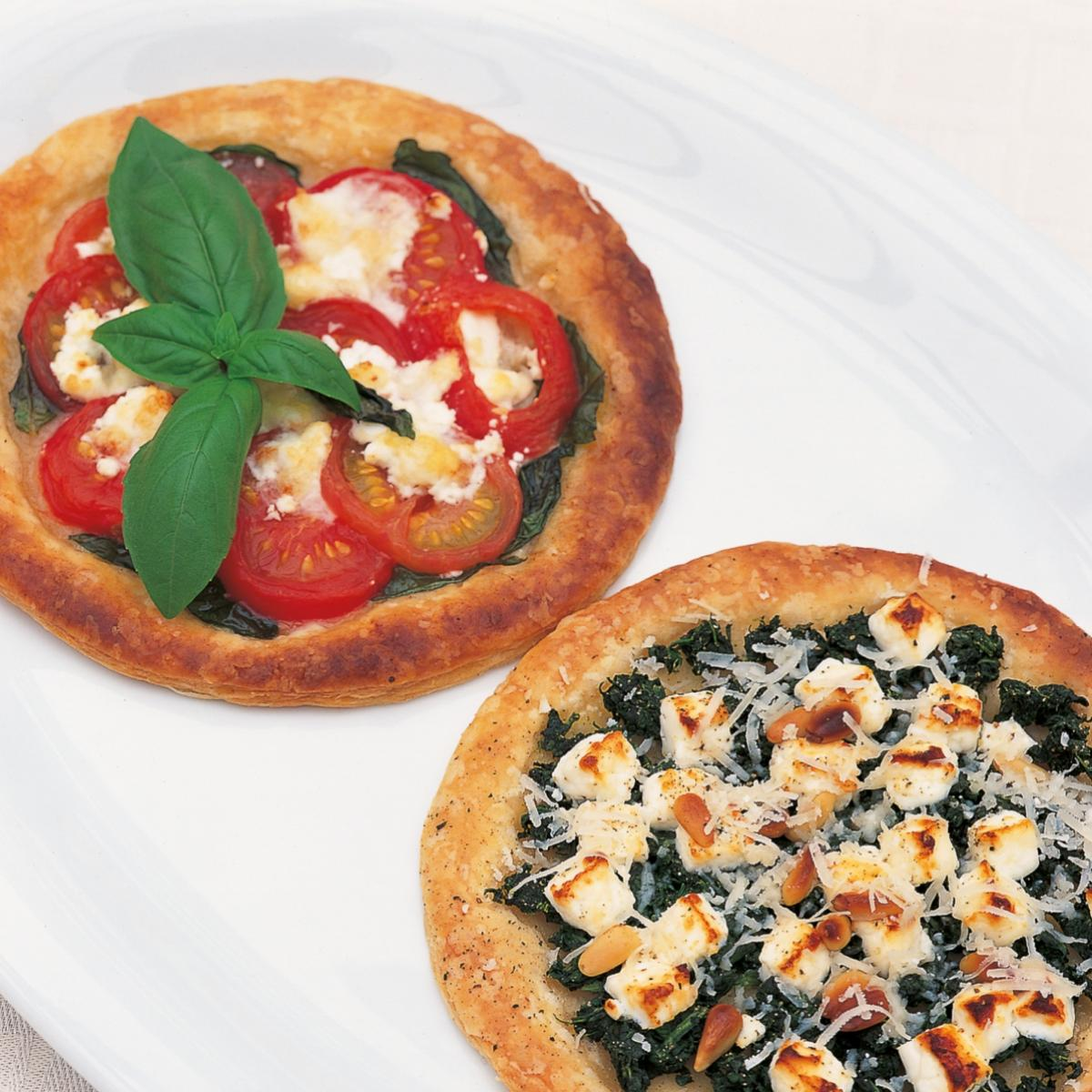 A picture of Delia's Tomato and Goats' Cheese Galettes recipe