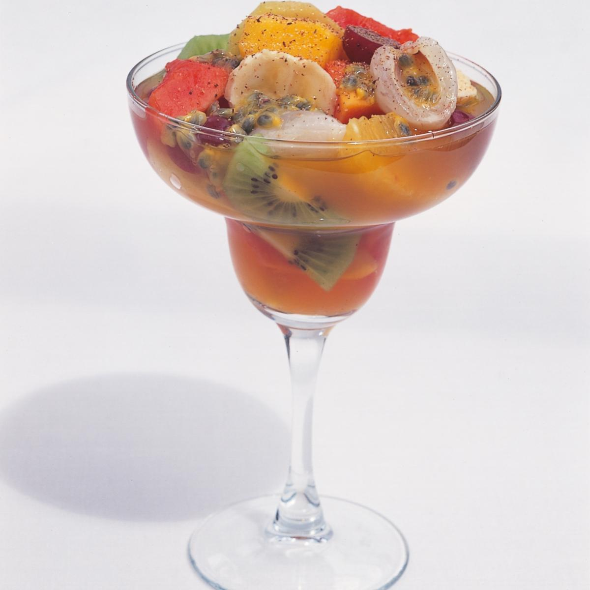 Htc tropical fruit salad in planters punch