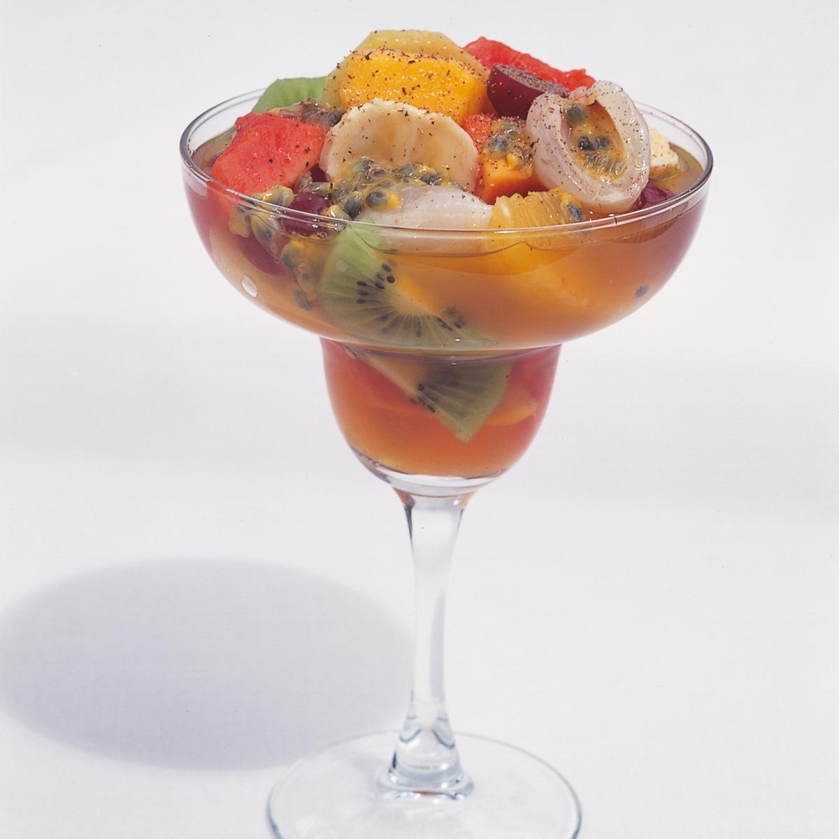 A picture of Delia's Tropical Fruit Salad in Planter's Punch recipe