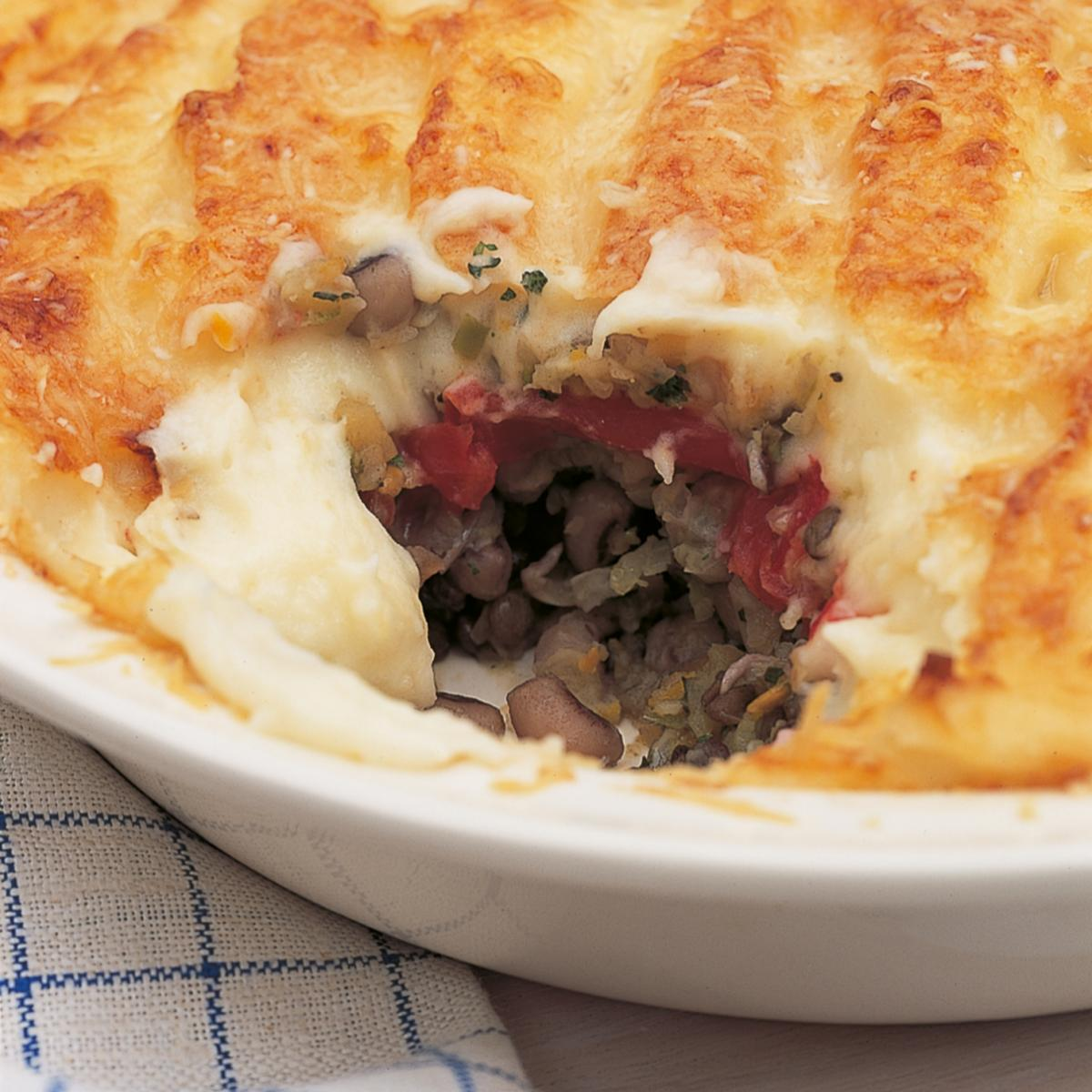 A picture of Delia's Vegetarian Shepherd's Pie with Goats' Cheese Mash recipe