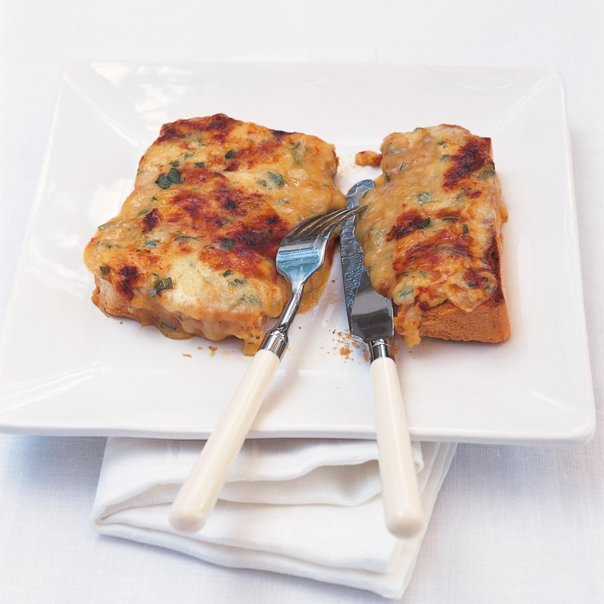 A picture of Delia's Welsh Rabbit (Rarebit) with Sage and Onions recipe