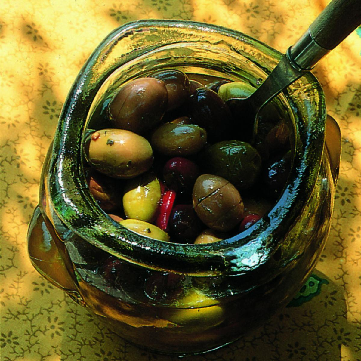 Ingredient summer olives in a jar page221
