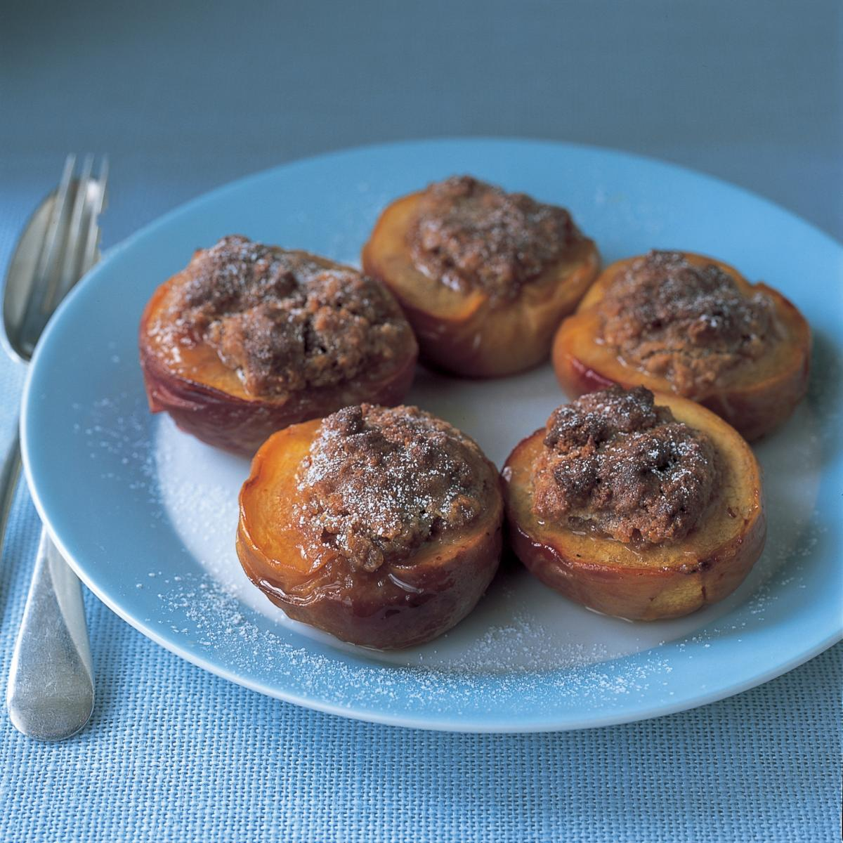 A picture of Delia's Peaches Baked with Amaretti recipe