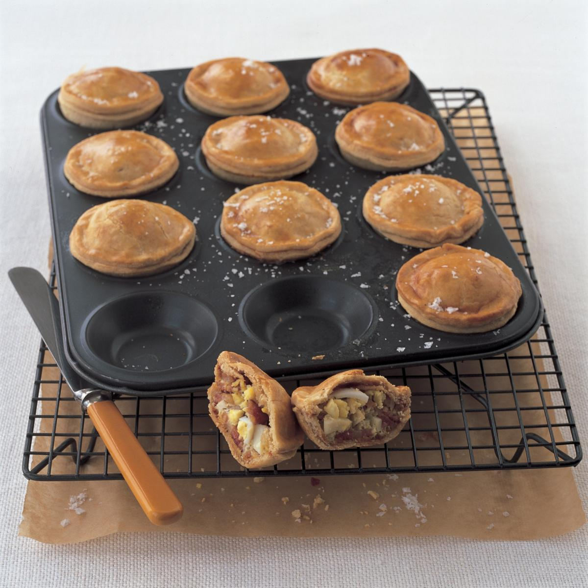 A picture of Delia's Bacon and Egg Pies recipe