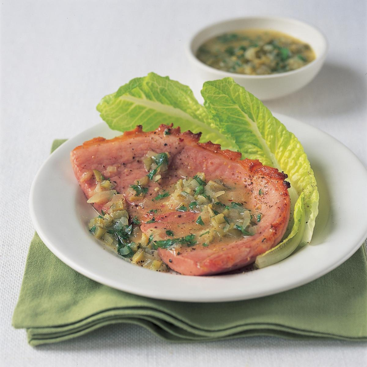 Gammon Steak With Honey And Mustard Sauce Recipes