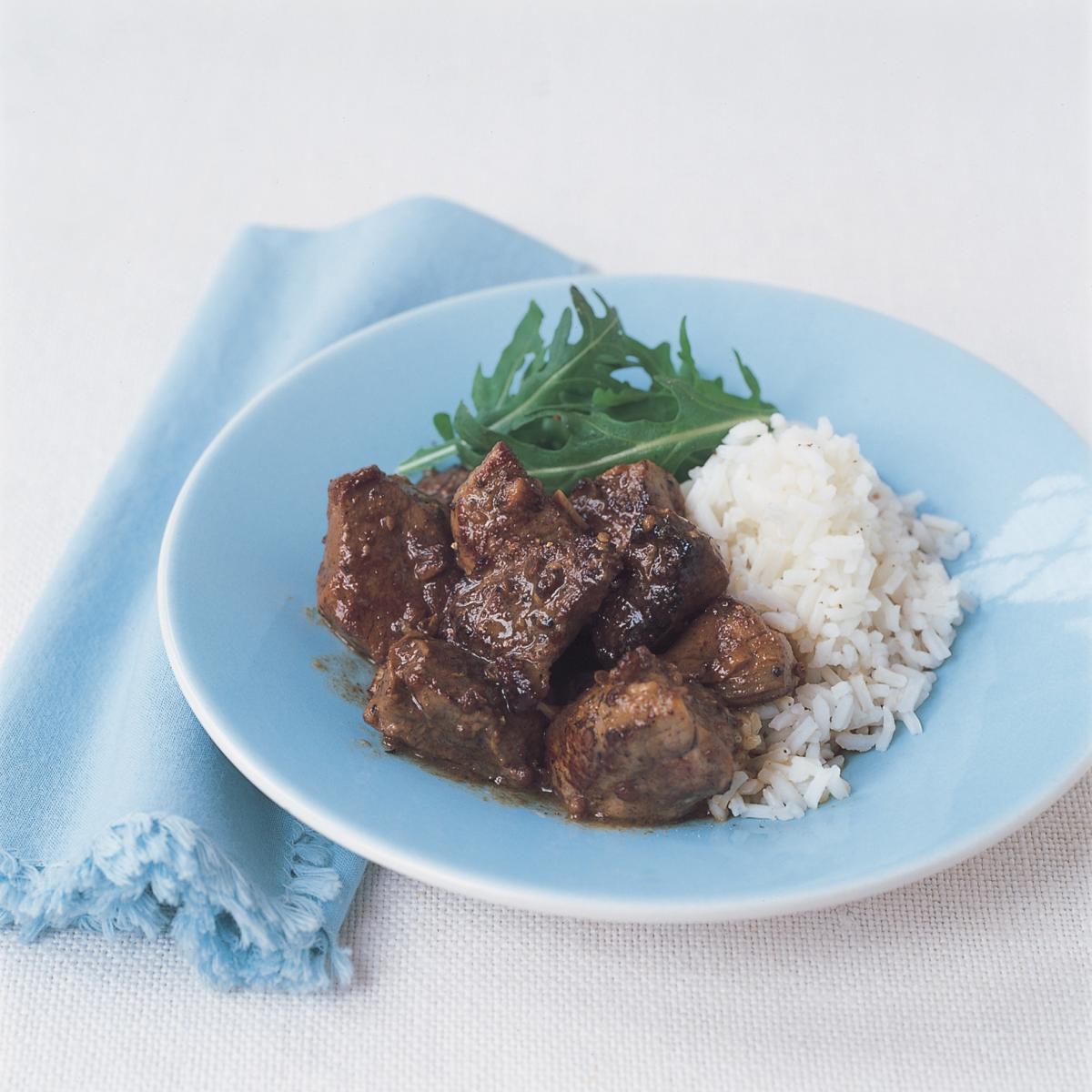 Pork marinated pork with coriander