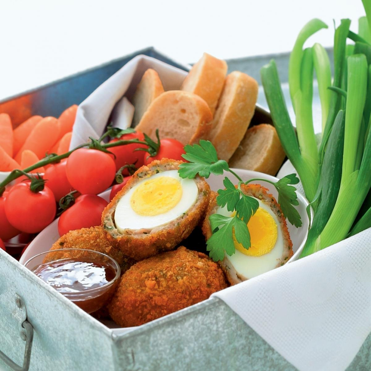 A picture of Delia's Scotch Eggs with Fresh Herbs recipe