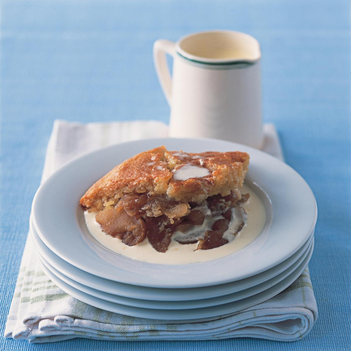 A picture of Delia's Baked Apple and Almond Pudding recipe