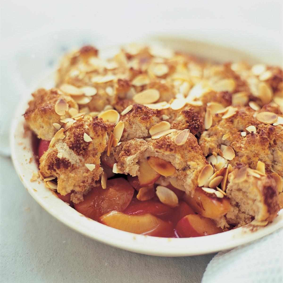 A picture of Delia's Plum and Almond Buttermilk Cobbler recipe