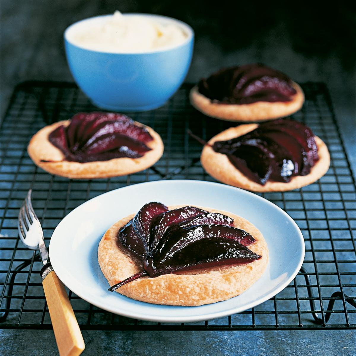 Puddings poached pear galettes