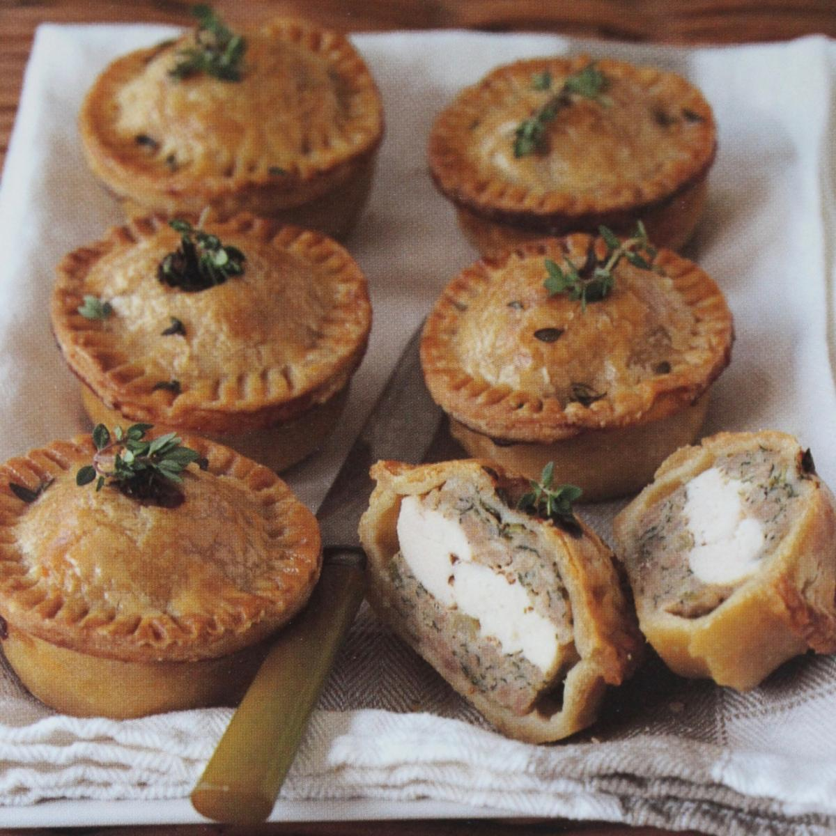 A picture of Delia's Chicken and Herb Picnic Pies recipe
